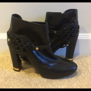 HOST PICK Tory Burch Black Leather Love Boots 9.5
